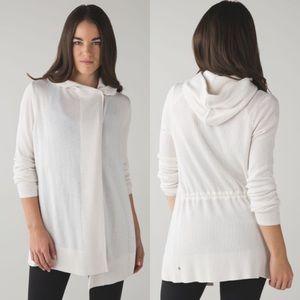 Lululemon Cashmere Peace of Mind Tan Wrap Sweater